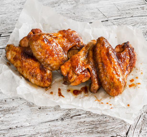 BBQ chicken wings meat food