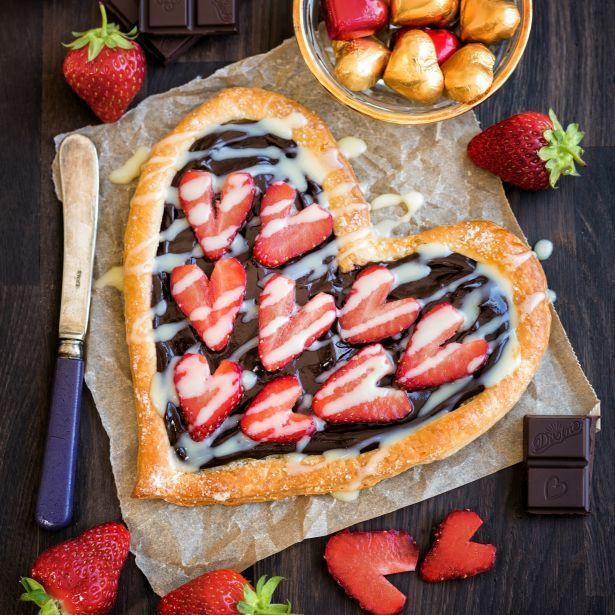 Divine Chocolate Valentine's Tart for two