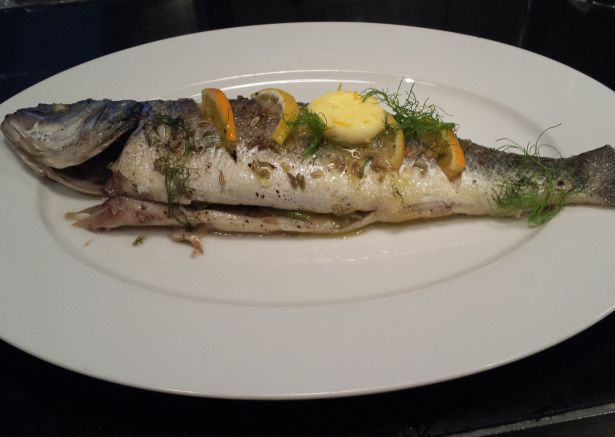 Sea Bass with Orange Butter at Hunter 486