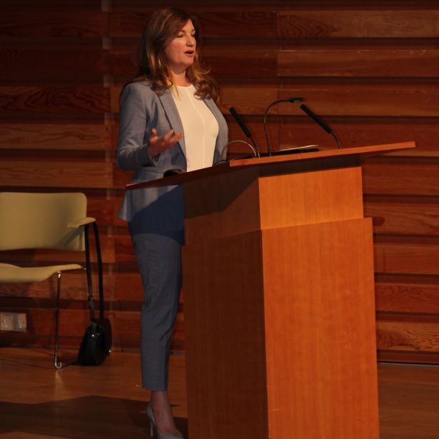 Karren Brady speaking at Sevenoaks School (2)