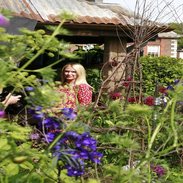 Anneka Rice in her garden