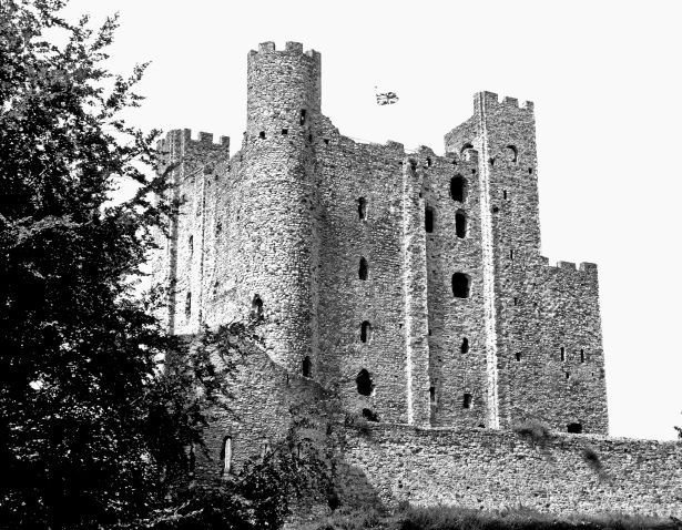 Rochester Castle, on the east bank of the River Medway, now saved from dereliction and open to the public. (Anne Thompson)