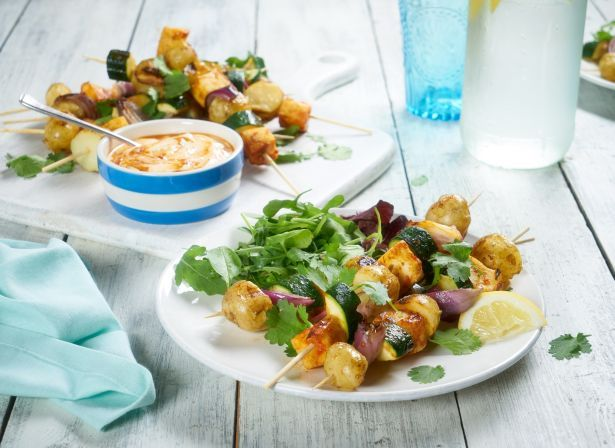 Cornish New Potato and Halloumi Skewers
