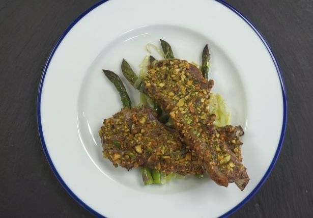 Pistachio Crusted Lamb Cutletts