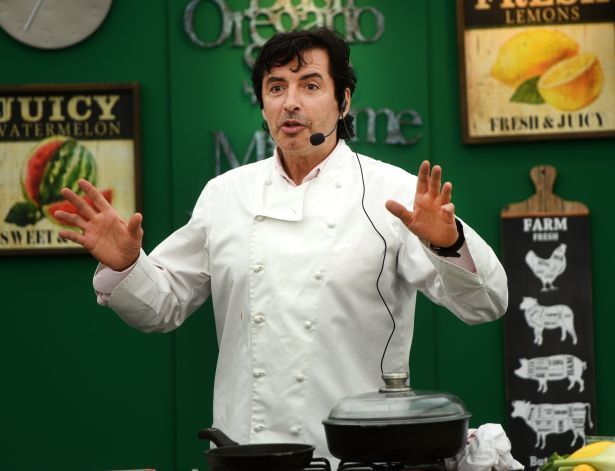 Jean Christophe Novelli in demo tent
