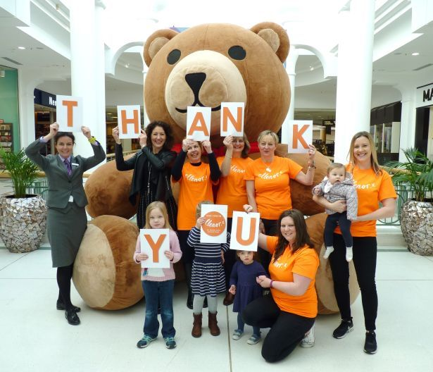 ellenor Volunteers and RVP Centre Management with Teddy Selfie at Royal Victoria Place